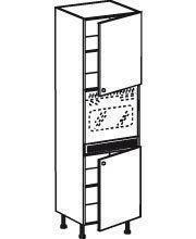 Meuble de cuisine ANTHRACITE armoire four 2 portes haut.200cm larg.60cm - Gedimat.fr