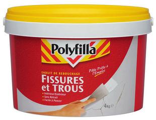 Enduit de rebouchage fissures et trous instantané pâte 1kg - Gedimat.fr