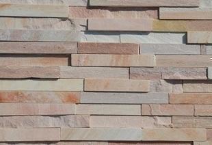plaquette de parement en pierre naturelle quarzite coloris rose orient. Black Bedroom Furniture Sets. Home Design Ideas