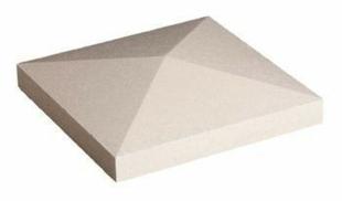 chapeau de pilier pointe de diamant coloris blanc. Black Bedroom Furniture Sets. Home Design Ideas