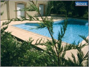 Margelle piscine droite AQUITAINE long.50cm larg.33cm coloris pierre du Lot - Gedimat.fr