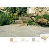 Dallage CASTELLANE multiformat en pierre reconstituée aspect martelé ép.3.5cm coloris Savanne - Gedimat.fr