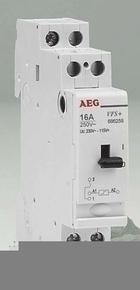 Télérupteur modulaire monopolaire AEG 16A 220V 1 contact NO - Gedimat.fr