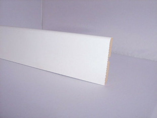 plinthe mdf rev tue papier arrondie section 10x70mm long 2 40m blanc. Black Bedroom Furniture Sets. Home Design Ideas