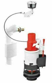 Ensemble mécanisme double chasse 3/6L à câble et robinet latéral pour réservoir de chasse - Gedimat.fr