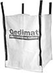 Big Bag de chantier Gedimat non réutilisable charge utile 1500kg volume 1m3 - Gedimat.fr