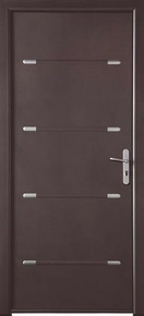 Porte d'entrée ZEN en aluminium gauche poussant haut.2,15m larg.90cm laqué blanc - Gedimat.fr