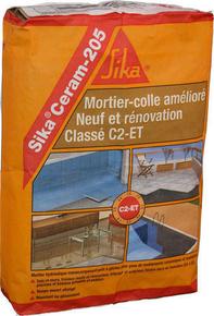 Mortier colle sikaceram 205 sac 25kg gris - Piscine du mortier ...