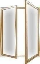 Fenêtre bois exotique lamellé collé sans aboutage isolation totale 100mm 2 vantaux ouvrant à la française vitrage transparent haut.1,05m larg.1,00m - Gedimat.fr