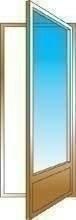 Porte-fenêtre bois exotique lamellé collé sans aboutage isolation totale 160mm 1 vantail ouvrant à la française vitrage transparent droit tirant haut.2,15m larg.80cm - Gedimat.fr