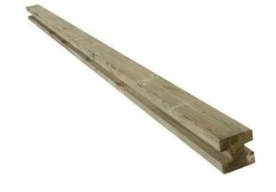 Poteau intermédiaire en bois (Pin du Nord) pour clôture H 9,00cm x 9,00cm Long.2,40m Coloris vert - Gedimat.fr