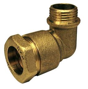Coude laiton mâle à visser diam.20x27mm pour branchement tube polyéthylène diam.25mm avec lien 1 pièce - Gedimat.fr