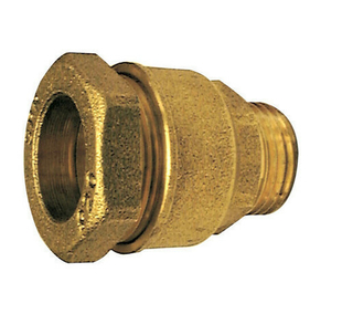 Raccord laiton droit mâle à visser diam.20x27mm pour branchement tube polyéthylène diam.25mm avec lien 1 pièce - Gedimat.fr