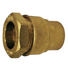 Raccord laiton droit femelle à visser diam.20x27mm pour branchement tube polyéthylène diam.25mm avec lien 1 pièce - Gedimat.fr