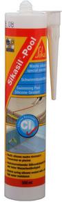 Mastic silicone piscine SIKASIL POOL cartouche de 300ml translucide - Gedimat.fr