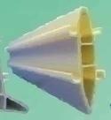 Joint de fractionnement PVC gris pour dallage béton larg.8xHAut.50mm Long.2.50m - Gedimat.fr