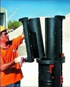 Coffrage de poteau PVC ABS stable aux U.V.GEOTUBE réutilisable circulaire haut.60cm diam.90cm - Gedimat.fr
