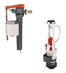 Ensemble mécanisme à câble et étrier coulissant et robinet latéral pour réservoir de chasse - Gedimat.fr