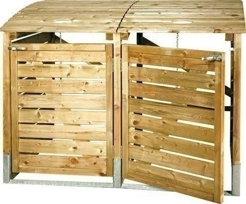 Bordure jardin bois autoclave id es de - Fabriquer cache poubelle bois ...