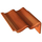 Tuile de rive universelle droite TRAPIDANNE coloris rouge sienne - Gedimat.fr