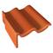 Tuile de rive universelle gauche TRAPIDANNE coloris rouge sienne - Gedimat.fr