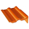 Tuile de rive universelle droite DOUBLE ROMANE coloris rouge sienne - Gedimat.fr