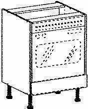 Meuble de cuisine ANTHRACITE bas four haut.70cm larg.60cm + pieds réglables de 12 à 19cm - Gedimat.fr