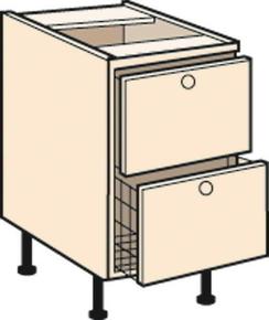 Meuble de cuisine ANTHRACITE bas 2 tiroirs casserolier + 1 tiroir, haut.70cm larg.80cm + pieds réglables de 12 à 19cm - Gedimat.fr