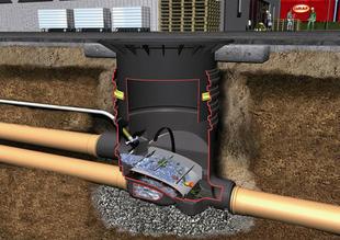 Filtre externe OPTIMAX avec réhausse et couvercle en fonte pour circulation véhicules jusque 2,2 T diam.85cm - Gedimat.fr