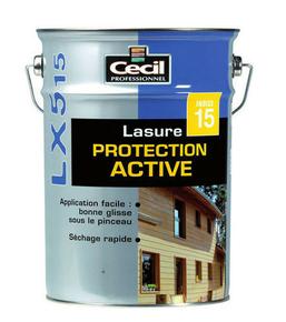 Lasure bois protection active indice 15 LX515 pot de 5L satinée chêne clair - Gedimat.fr