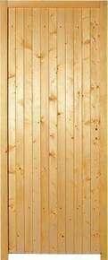 Porte de service tarbes en bois sapin droite for Porte de service isolante