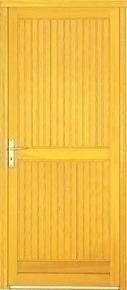 Porte de service montpellier en bois exotique droite for Porte de service bois exterieur