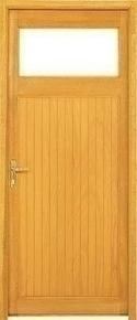 Porte de service tours en bois exotique droite poussant for Porte de service bois vitree
