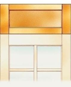 Imposte pleine bois exotique pour porte de service haut.10cm larg.90cm - Gedimat.fr