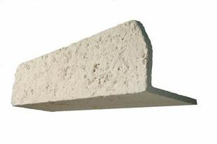 Linteau en pierre reconstituée MANOIR larg.+/-22,5cm long.+/-80cm coloris pierre - Gedimat.fr