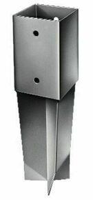 Pied de poteau carré dim.7x7cm ancre à sceller - Gedimat.fr