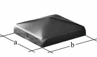 Tête de diamant galvanisée pour poteau carré dim.7x7cm - Gedimat.fr