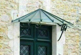 Vitrage arm� pr�d�coup� pour marquise fer Pompadour - GEDIMAT - Mat�riaux de construction - Bricolage - D�coration