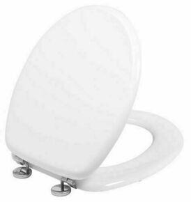 Abattant WC en bois compressé 3,2kg blanc vis inox - Gedimat.fr
