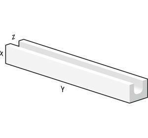 Bloc béton cellulaire linteaux horizontal U de coffrage ép.20cm larg.25cm long.350cm - Gedimat.fr