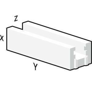 Bloc béton cellulaire chainage horizontal U long.60cm haut.25cm ép.20cm - Gedimat.fr