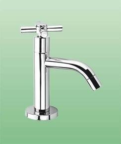 Robinet lave-mains SCOP laiton haut.16cm chromé - Gedimat.fr