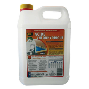 Acide chlorydrique 23 bidon de 5l for Acide chlorhydrique piscine