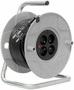 Enrouleur bricolage avec câble 30m HO5 VV-F3G1,5 et disjoncteur thermique - Gedimat.fr