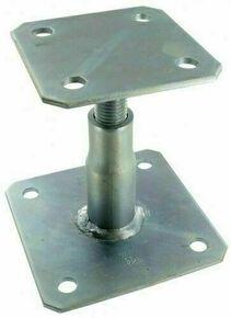 Pied de poteau réglable haut.100/150mm - Gedimat.fr