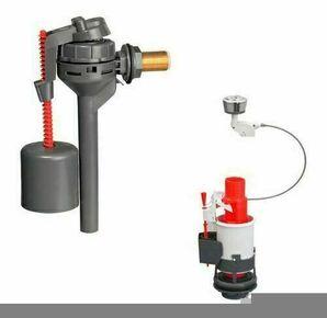 Ensemble mécanisme double chasse à câble et robinet compact pour réservoir de chasse - Gedimat.fr