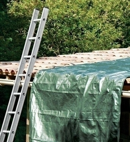Bâche de protection lourde toile tissée indéchirable larg.4m long.5m vert/marron - Gedimat.fr