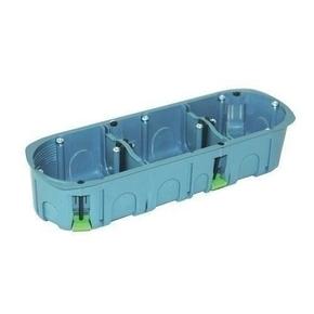 Boîte d'encastrement 3 postes pour cloison creuse diam.67mm prof.40mm coloris gris - Gedimat.fr