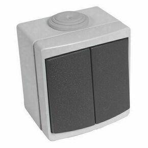 Interrupteur ou va et vient double étanche PERLE vendu sous film gris - Gedimat.fr