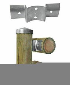 Raccord en croix en acier galvanisé larg.7cm long.20cm ép.2,5mm - Gedimat.fr